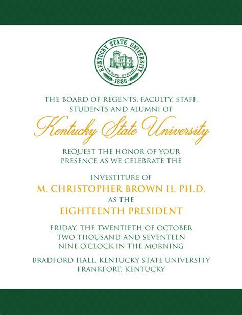 inaugural invitation kentucky state universitykentucky