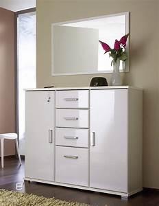Garderobe Mit Spiegel : 2 tlg garderobe set kommode spiegel hochglanz weiss ebay ~ Eleganceandgraceweddings.com Haus und Dekorationen