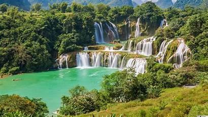 Jungle Waterfall Waterfalls