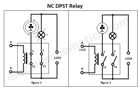 Throw Switch To Schematic Wiring Diagram by Dpst Relay Pole Single Throw