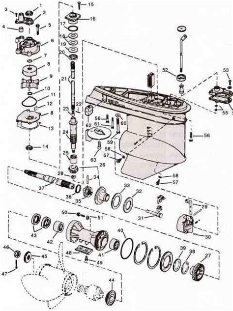 evinrude johnson outboard parts  drawingjpg