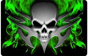 Images For > Cool Skulls On Blue Fire