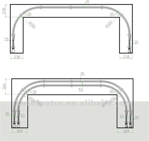 Motorized Curtain Tracks China by Curtain Ripple Fold Roller Runner 70mm Spacing For Good