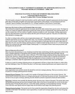 non profit strategic plan template free word pdf With strategic plan template not for profit