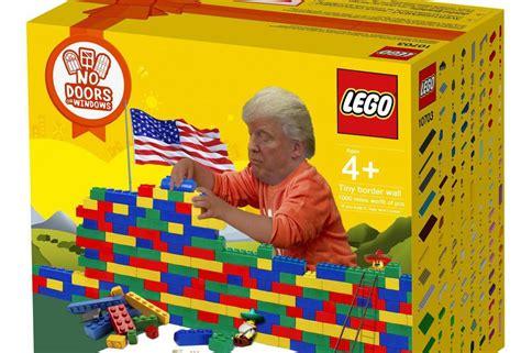 cartoon trump lego build  wall set antarctica journal