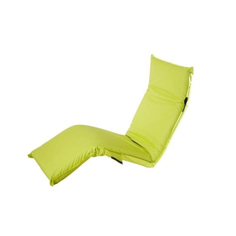 sunjoy adjustable lime green outdoor lounge chair cushion