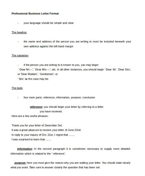professional business letter sample pictures  pin
