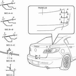 Mazda 3 Service Manual - Trunk Lid Adjustment  Lids