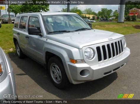 silver jeep patriot interior bright silver metallic 2010 jeep patriot sport dark