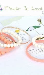 Fashion Pink Pearl Decorated Multilayer Design Alloy ...
