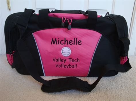 duffel bag personalized volleyball team sports  htscreations