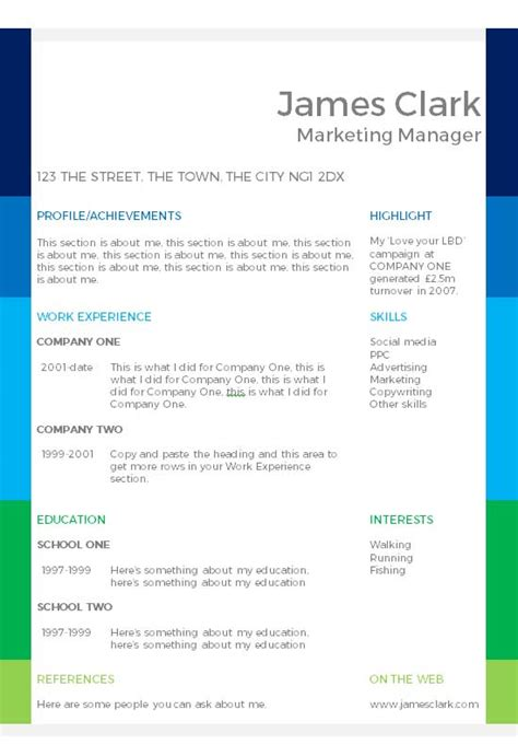 How Can I Make My Own Resume by I Want To Create My Own Cv For Free