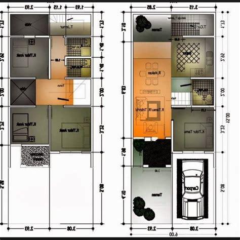 gambar denah rumah minimalis ukuran  terbaru denah