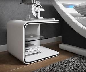 Moderne Betten Mit Led : nachtkonsole oscar weiss 52x40 cm mit led beleuchtung nachttisch ~ Bigdaddyawards.com Haus und Dekorationen