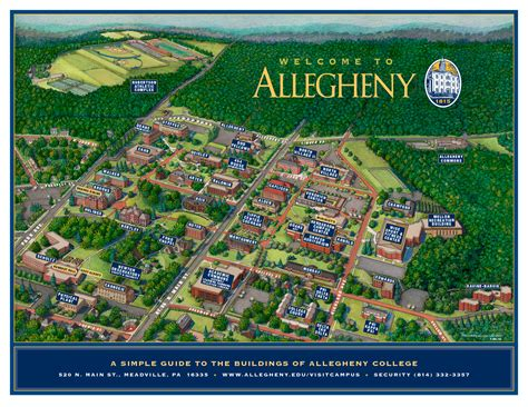 Campus Map « Visitor's Center | Allegheny College ...