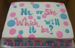 Calumet Bakery Baby Shower Cakes by Calumet Bakery Gender Reveal Cake With Fondant Polka Dots