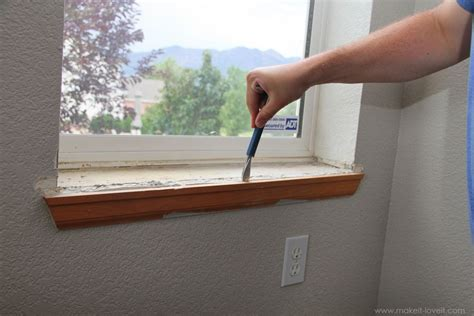 Replacing Window Sill And Trim home improvement trimming a window replacing the sill