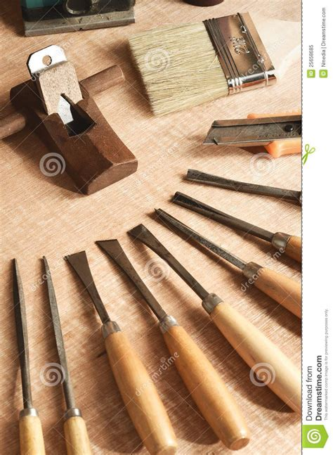 wood working tools  royalty  stock photo image