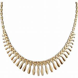 Estate 14K Gold Cleopatra Egyptian Revival Fringe Necklace