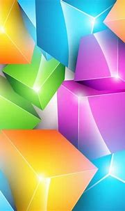 Colorful Cube Background - Free Vector Art
