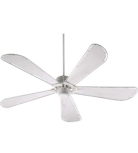 canvas blade ceiling fan quorum 159605 8 dragonfly patio studio white with white