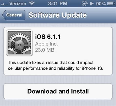 iphone update ios 6 1 1 update released for the iphone 4s gsmarena