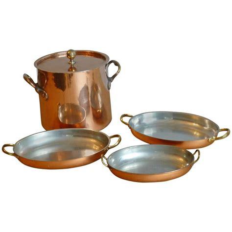 tinned set  copper stock pot  baking pans  sale