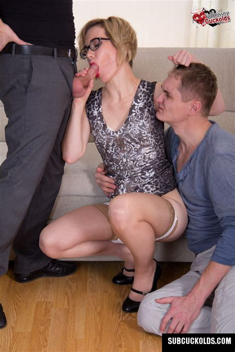 Submissive Cuckolds Presents Mature Wife And Her Hubby Cuckold