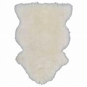Tapis Fourrure Ikea : ludde peau de mouton blanc repose pieds bureaux et salons ~ Teatrodelosmanantiales.com Idées de Décoration