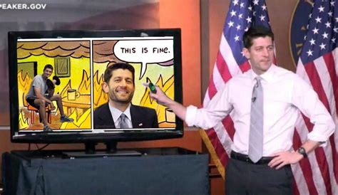 This Is Fine Meme Template by This Is Fine Paul Ryan S Powerpoint Presentation Know