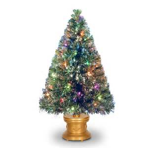 fiber optic christmas tree 48 quot fiber optic evergreen artificial christmas tree american sale
