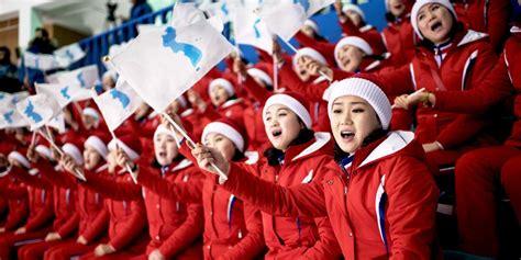 north cheerleaders korean korea squad olympics olympic everything cheerleading need