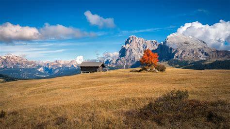 wallpaper perfect autumn landscape  south tyrol