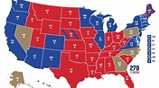 US presidential election 2020 results map | Biden vs Trump ...