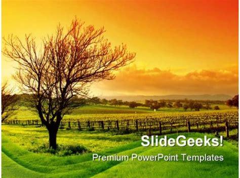vineyard nature powerpoint background  template