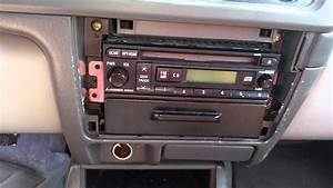 2002 Mitsubishi Montero Sport Stereo Removal