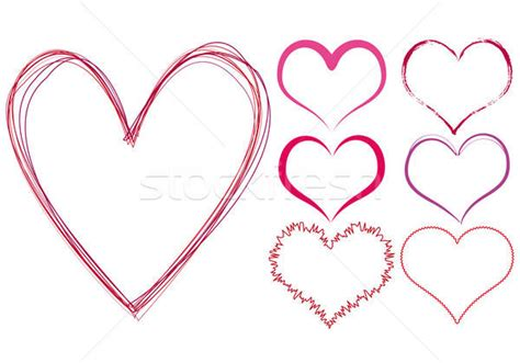 Scribble Hearts Vector Illustration © Beaubelle (#470295