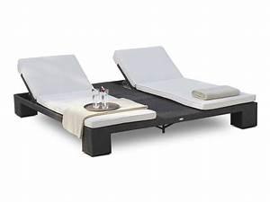 Chaise Longue Bain De Soleil : double bain de soleil de jardin relaxation sunny de lusso 6043 ~ Mglfilm.com Idées de Décoration