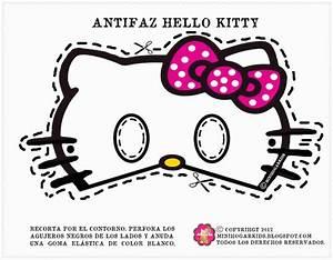Printable halloween masks for Hello kitty mask template
