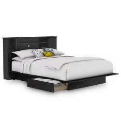 south shore vito full queen platform bed bookcase