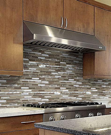 brown metal glass mixed mosaic kitchen backsplash tile