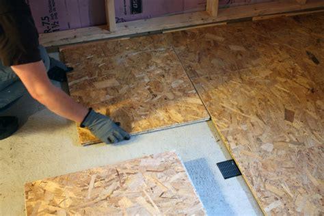 Basement Progress Electrical + Subfloor Chezerbey
