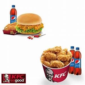 Kfc Chicken Bucket With Pepsi