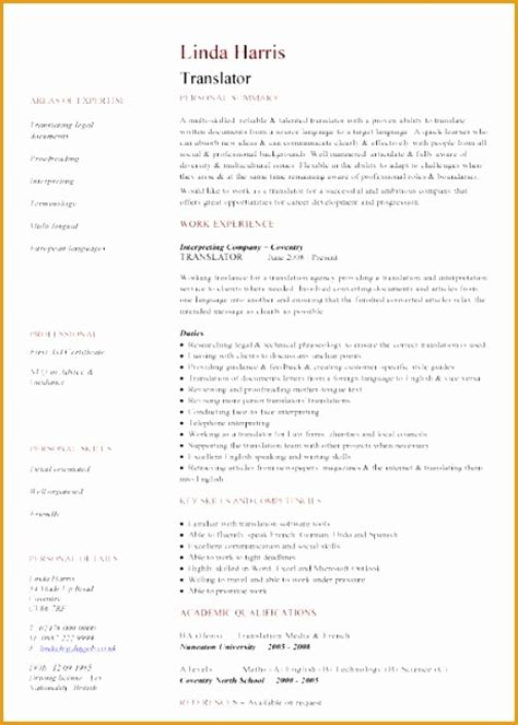Resume Block Format by 6 Cv Template In South Africa Free Sles Exles