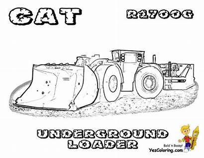 Coloring Pages Construction Machines Mining Underground Digging