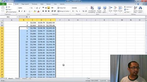 Microsoft Excel Lesson 2  Compound Interest Calculator (absolute Referencing, Fill Down) Youtube