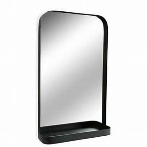 Miroir Metal Noir : miroir mural etagere metal noir versa 10850061 ~ Teatrodelosmanantiales.com Idées de Décoration