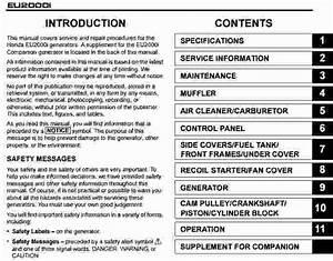 Honda Eu2000i Repair Manual