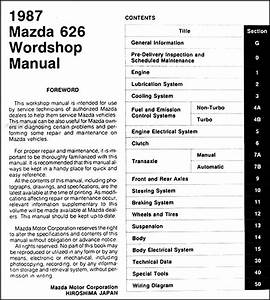 1987 Mazda 626 Repair Shop Manual Original