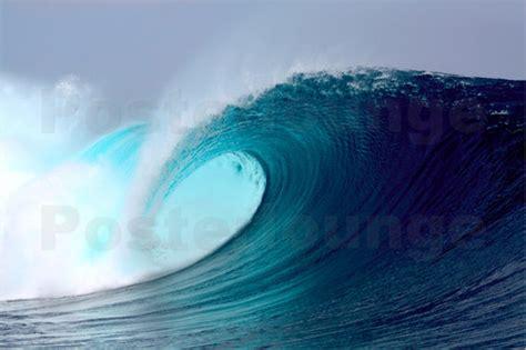 paul kennedy tropical blauen welle surfen poster